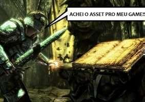 Arte: fotomontagem com imagem do game The Elder Scroll V - Skyrin