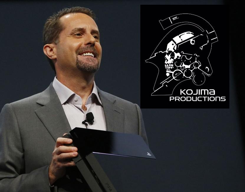 Arte: fotomontagem com imagem de Andrew House do site Flickeringmyth e logo da Kojima Productions