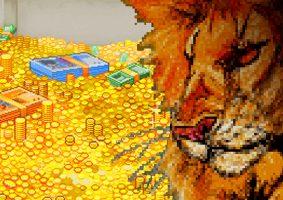 Arte: fotomontagem com imagens de pixel art.