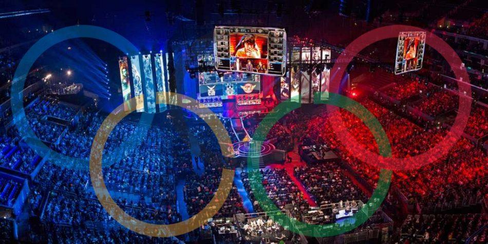 Imagem: fotomontagem com o logotipo das Olimpíadas