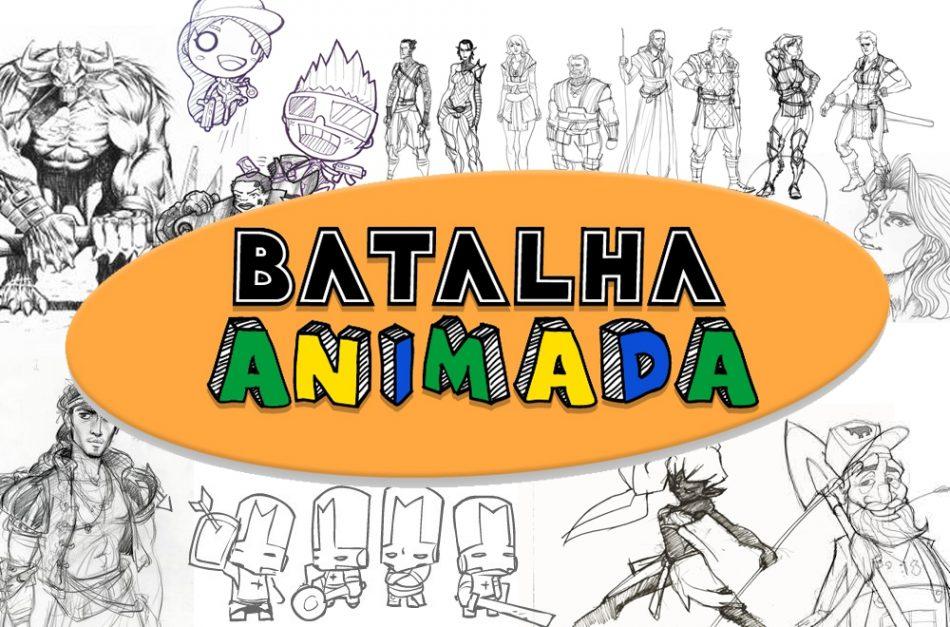 Imagem: fotomontagem com logo do projeto e artes de games
