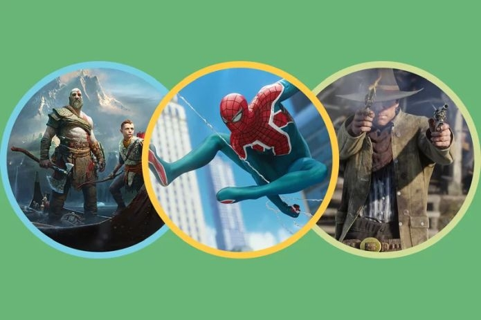 God of War; Spider-Man; Red Dead Redemption 2 / Sony Interactive (2); Rockstar Games