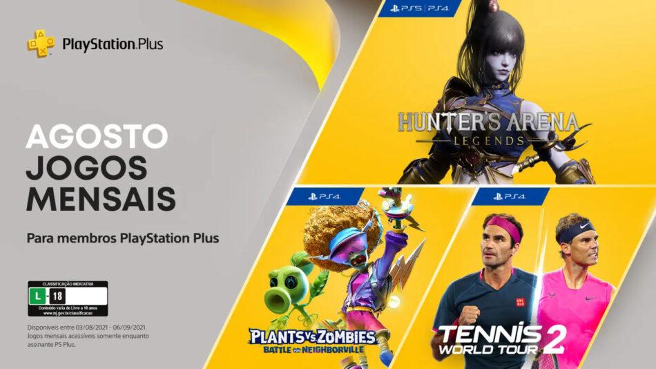Incluindo Plants vs Zombies, confira os jogos de graça da PS Plus em agosto  2021 - Drops de Jogos